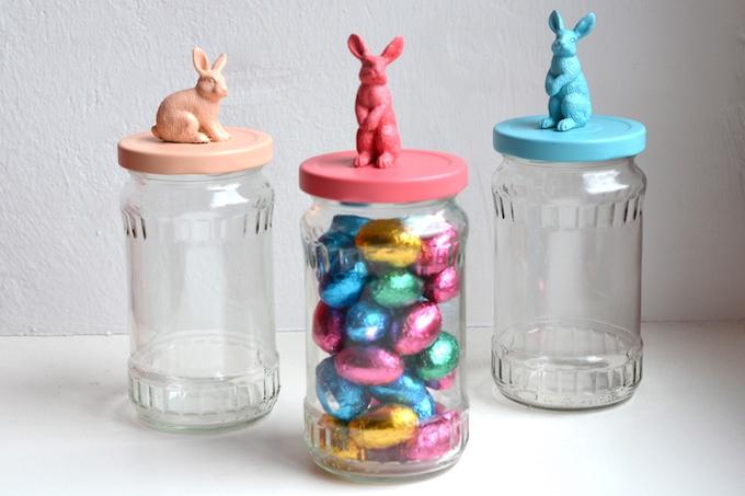 DIY bunny treat jars
