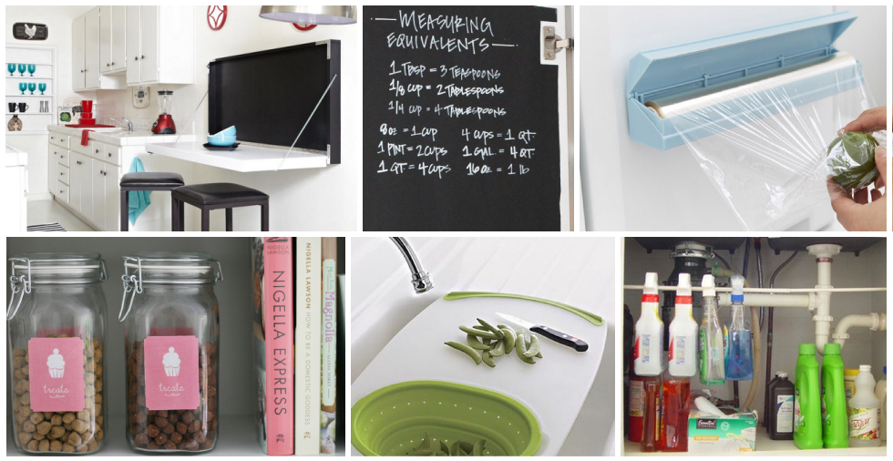 21 Organisational Hacks For Your Tiny Kitchen