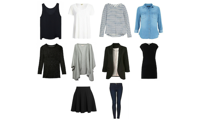 Pic from The Blissful Mind - check out their Capsule Wardrobe Basics.