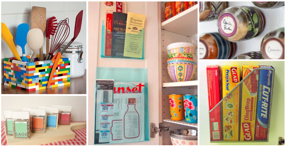 17 Genius Ways To Use Everyday Items To Organise Your Kitchen