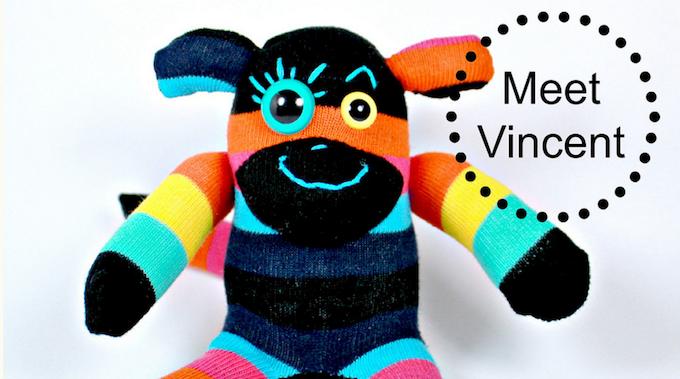Odd Sock cuddly toy