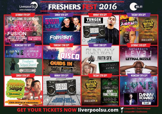 Liverpool University Freshers Week