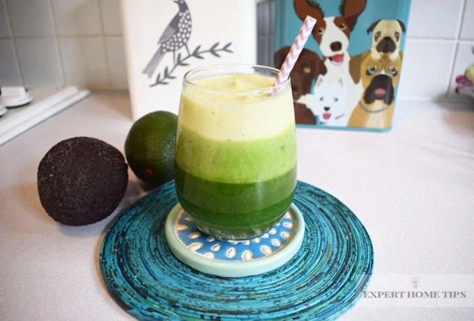 Avocado layered smoothie