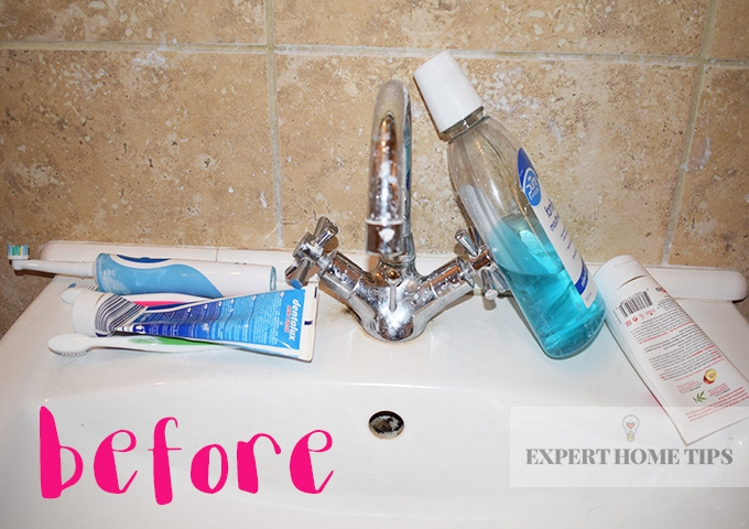 toothpaste sink before