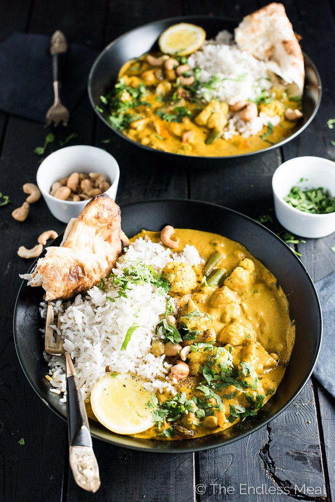 Creamy Vegetarian Korma Recipe