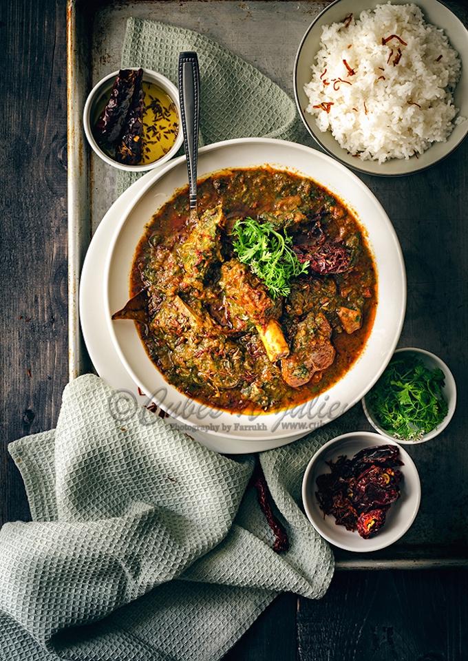 saag gosht curry