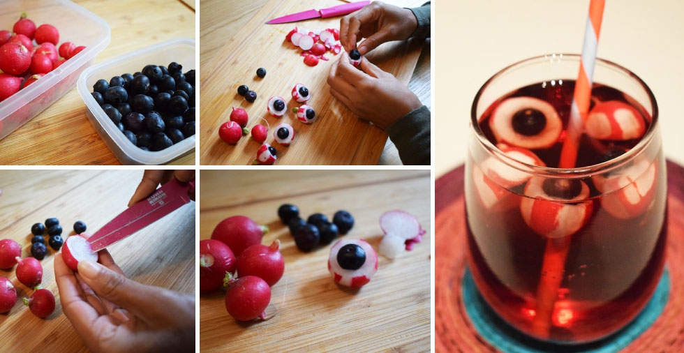 Make a super easy yet totally eerie eyeball punch this Halloween