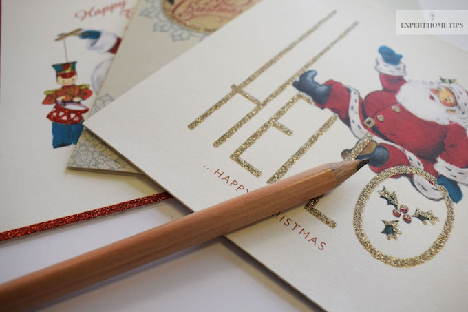 Write Christmas cards early to reduce stress