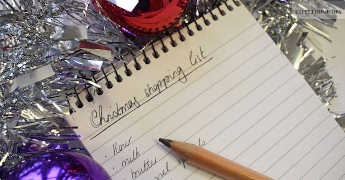 Reduce stress with a Christmas shopping list