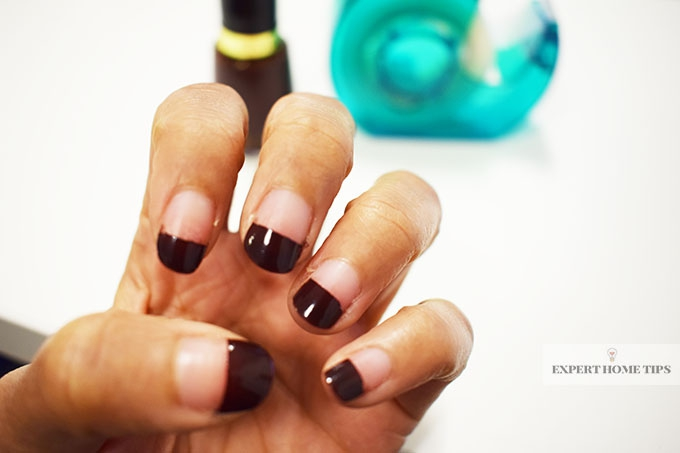 Sellotape used for painting nails