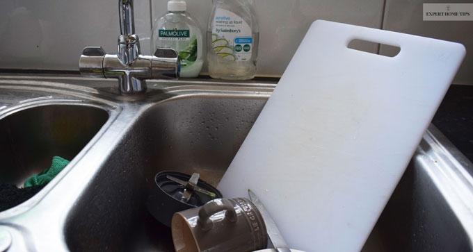 Germy kitchen sink