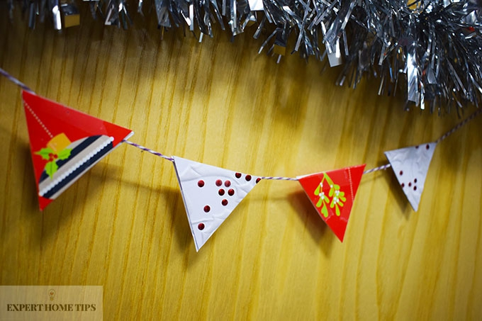 Cute bunting from cards!
