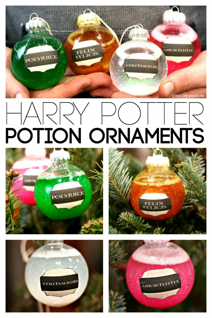 DIY Christmas Gifts Harry Potter Potion Ornaments