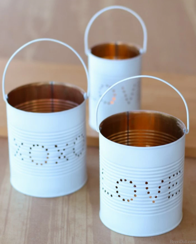 DIY Christmas Gifts Upcycled Tin Lantern