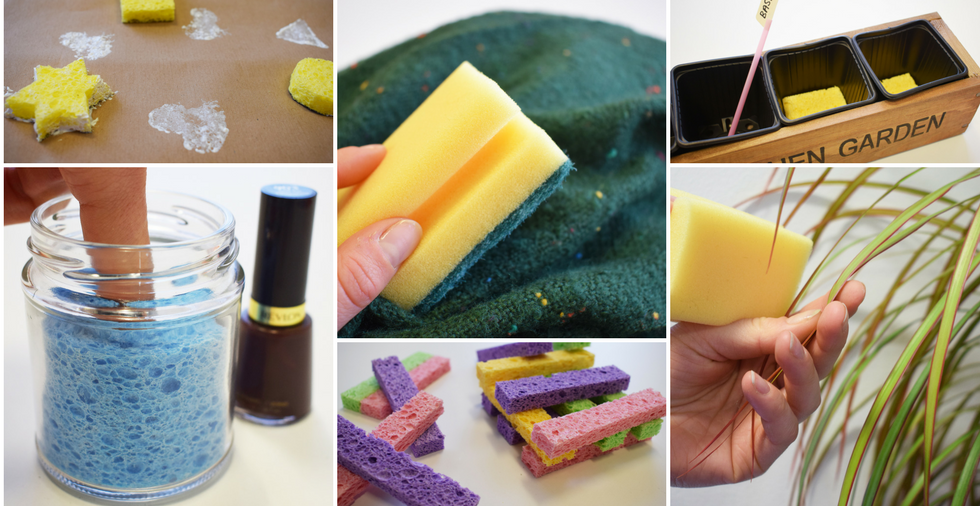 23 Unusual But Useful Ways To Use A Kitchen Sponge