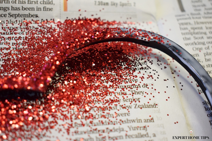 Red glitter for Valentine's craft