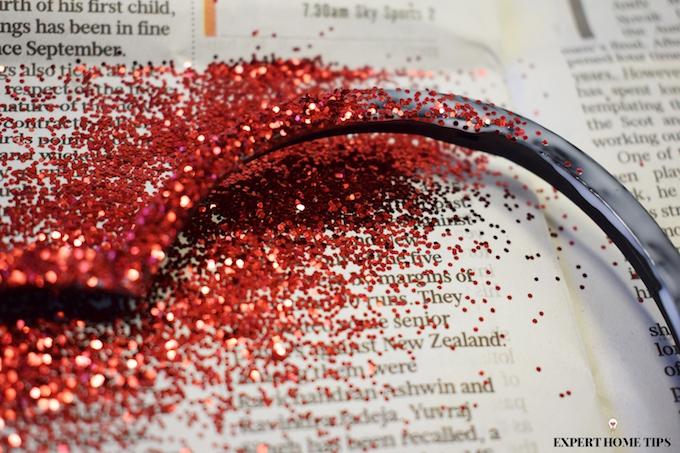 Red glitter for Valentine's craft