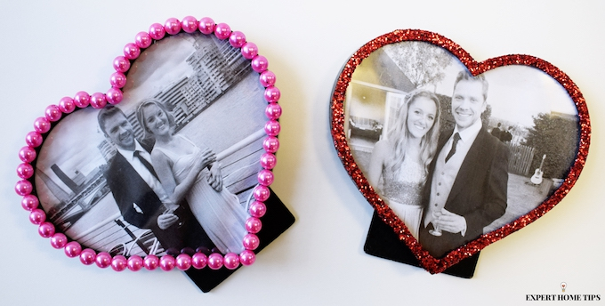 Valentine's photo frames DIY