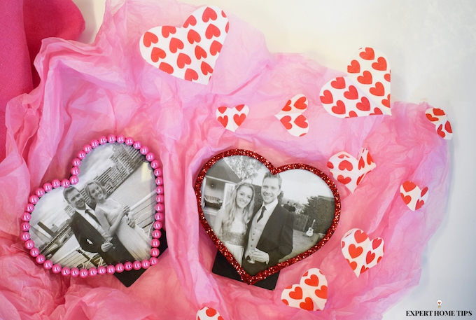 DIY Valentine's Day photo frames