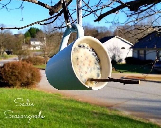 Mug bird feeder