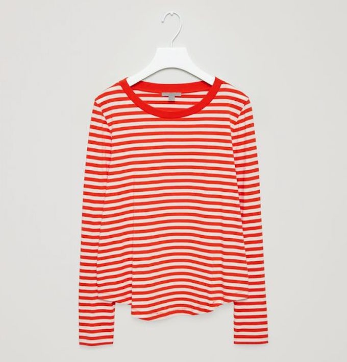 red striped COS top