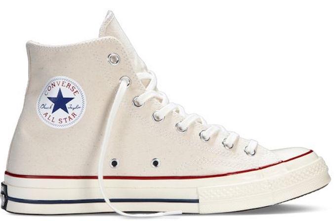 Parchment cream converse spring shoe