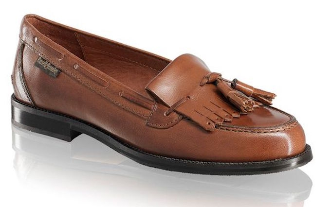 Russell & Bromley tan tassel loafers