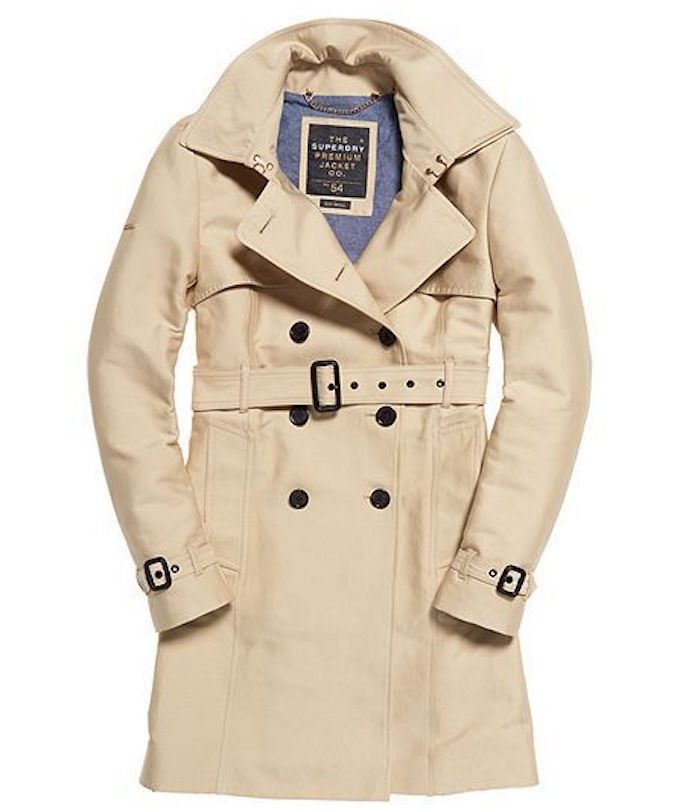 Superdry beige trench coat for spring 2017 wardrobe