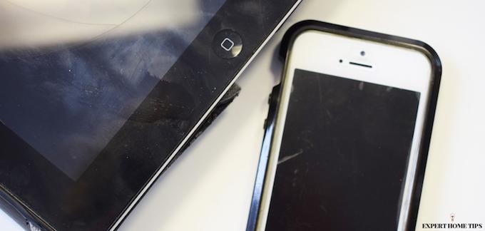germs on phone & ipad screen
