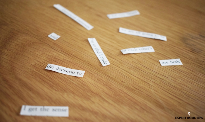 DIY word game from old books