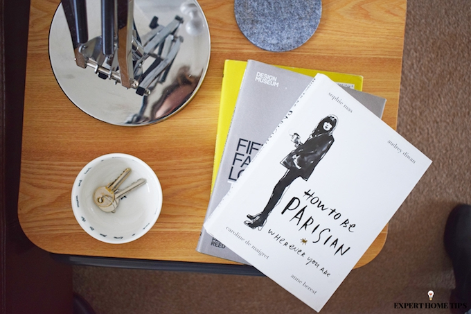 books on coffee table