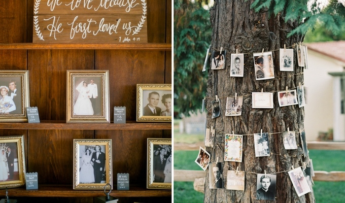 cheap photo display wedding decor
