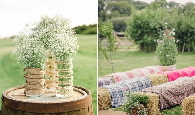 cheap countryside wedding decor