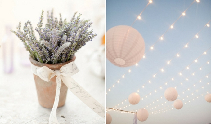 simple, low-cost wedding decor