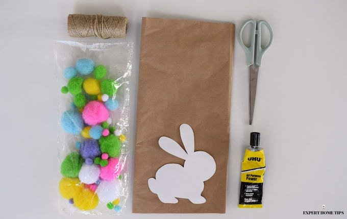 DIY Bunny garland materials