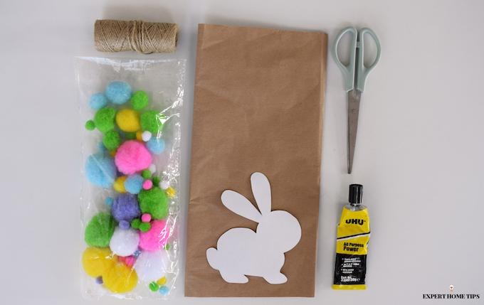 DIY Bunny garland materials