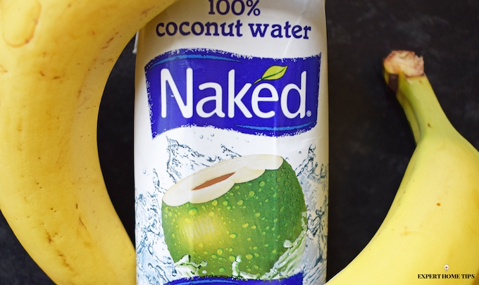 coconut water & bananas