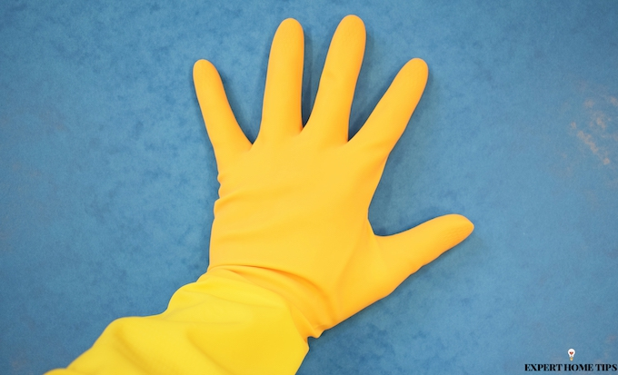 why you should wear rubber gloves to clean