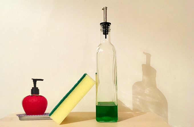 the easiest way to clean a kitchen sponge
