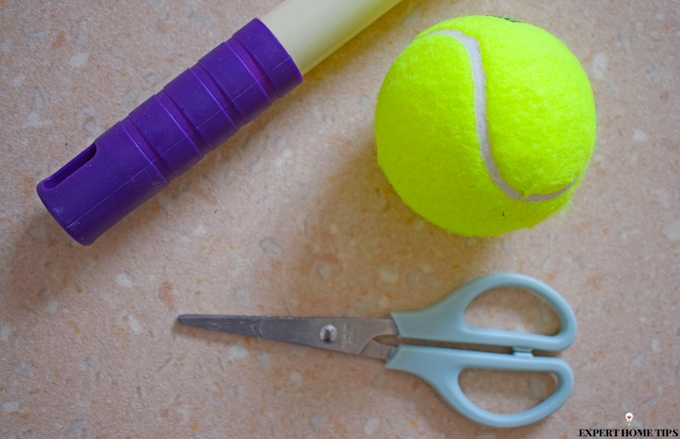 How to remove floor scuffs with a tennis ball