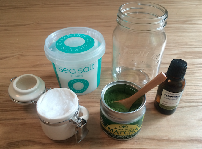 DIY Matcha body scrub