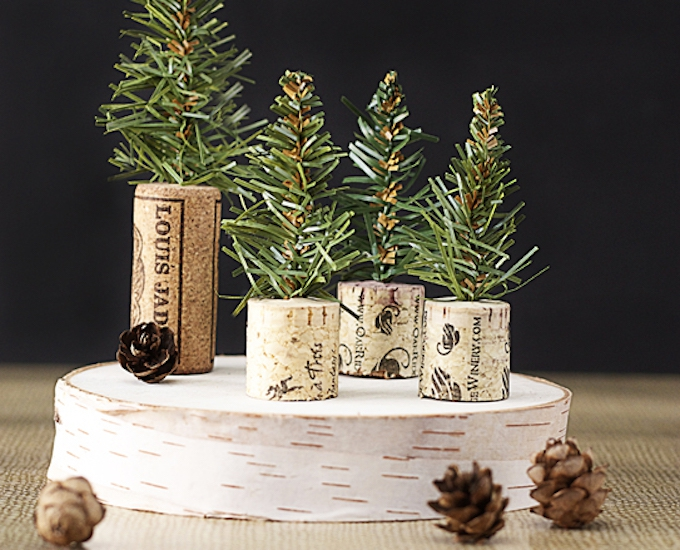 wine cork christmas tree decorations
