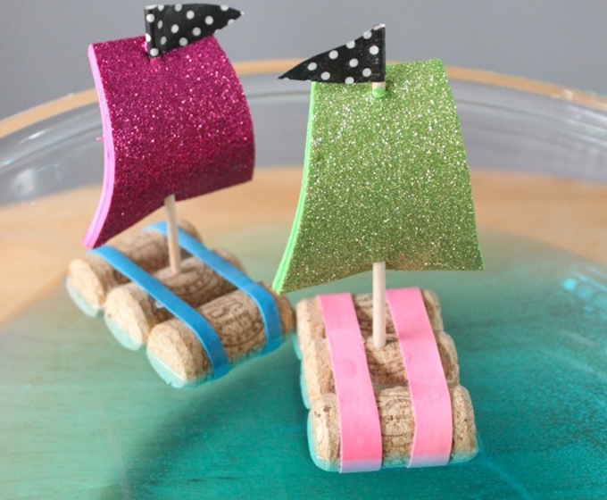 DIY WINE CORK SAILBOATS