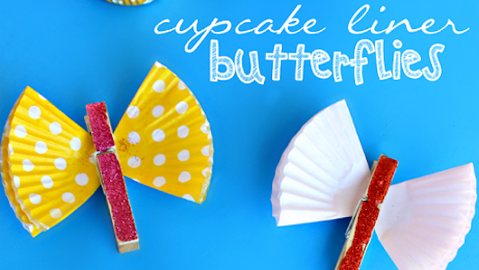 BUTTERFLY CRAFT CUPCAKE CASES