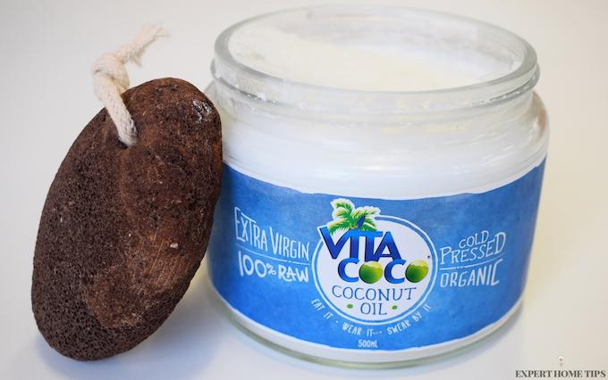 coconut oil for soft feet