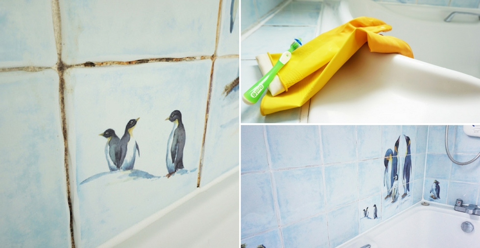 How to clean the grout in your shower - the results are AMAZING!