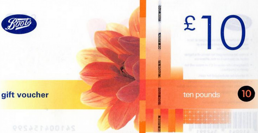 Win: 1 of 20 £10 Boots Gift Vouchers