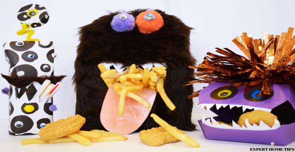 Halloween craft: McDonald's Happy Meal Monsters