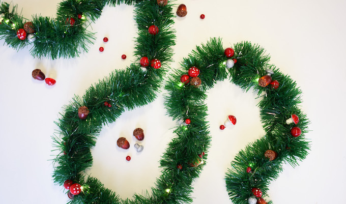 Christmas bunting tutorial