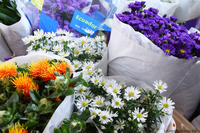 bouquet of market flowers